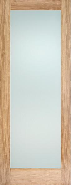 OAK PATTERN 10 FROSTED GLAZED INTERNAL DOOR