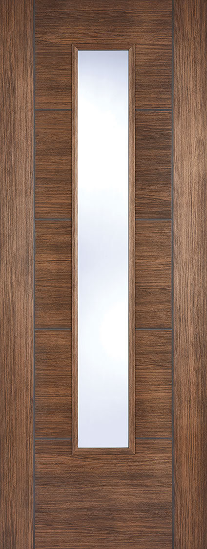 Walnut Laminated Vancouver Glazed & Walnut Laminated Vancouver Glazed | LPD Doors