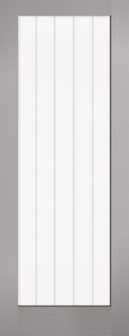 Grey Moulded Textured Vertical Glazed 1L