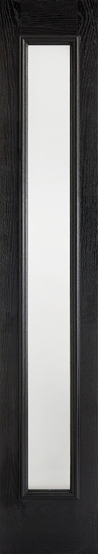 GRP Sidelight Black Glazed 1L Frosted