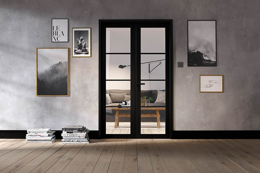 Room Divider Black Soho W4
