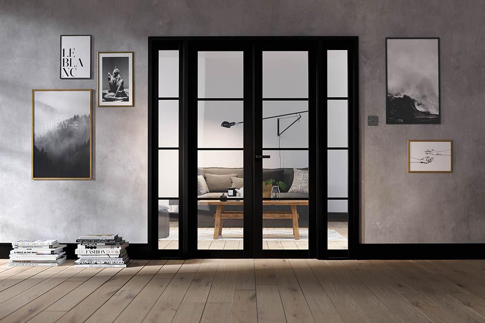 Room Divider Black Soho W6