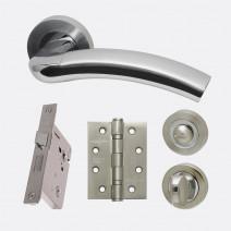 Ironmongery Jupiter Privacy Handle Hardware Pack
