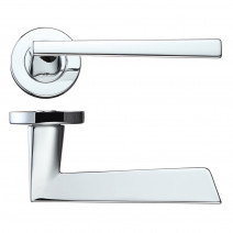 Ironmongery Lyra Polished Chrome Handle Hardware Pack