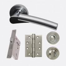 Ironmongery Neptune Privacy Handle Hardware Pack