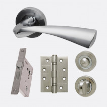 Ironmongery Pluto Privacy Handle Hardware Pack