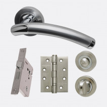 Ironmongery Saturn Privacy Handle Hardware Pack