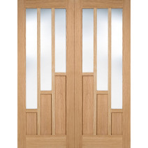 Oak Coventry Prefinished Glazed 3L Pairs