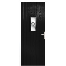 Speedwell Black Glazed Door Set