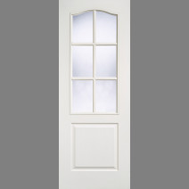 White Moulded Classical 6L Glazed