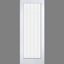 White Moulded Textured Vertical Glazed 1L
