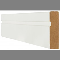 White Primed Architrave Single Groove