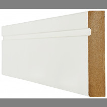 White Primed Skirting Single Groove