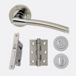 Ironmongery Mercury Privacy Handle Hardware Pack