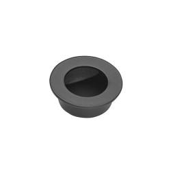 Ironmongery Pisces Matt Black Pocket Door Finger Pull