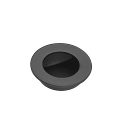 Ironmongery Virgo Matt Black Pocket Door Handle