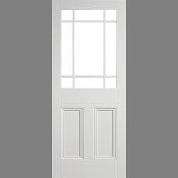 White Downham Unglazed 9 Light
