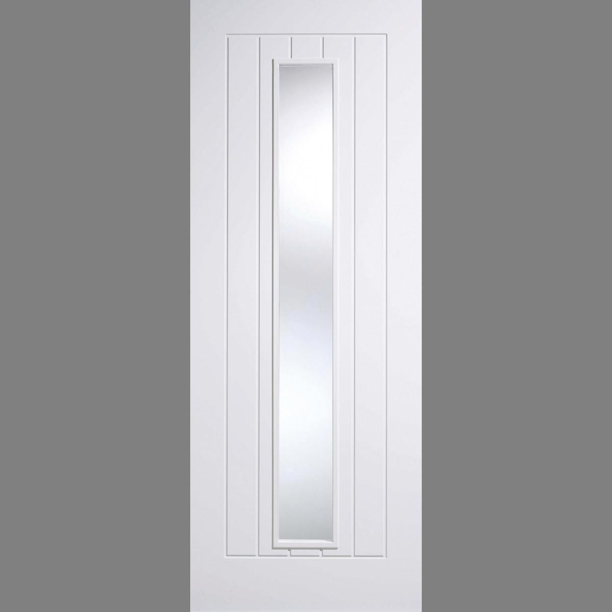 White Mexicano Glazed 1l Lpd Doors