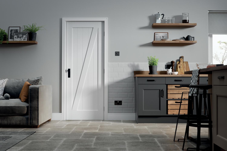Internal White Barn Door