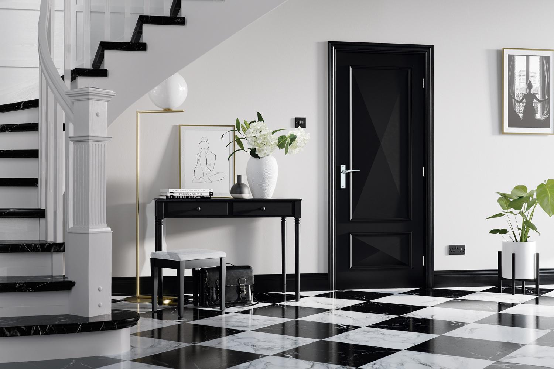 Internal Black Door