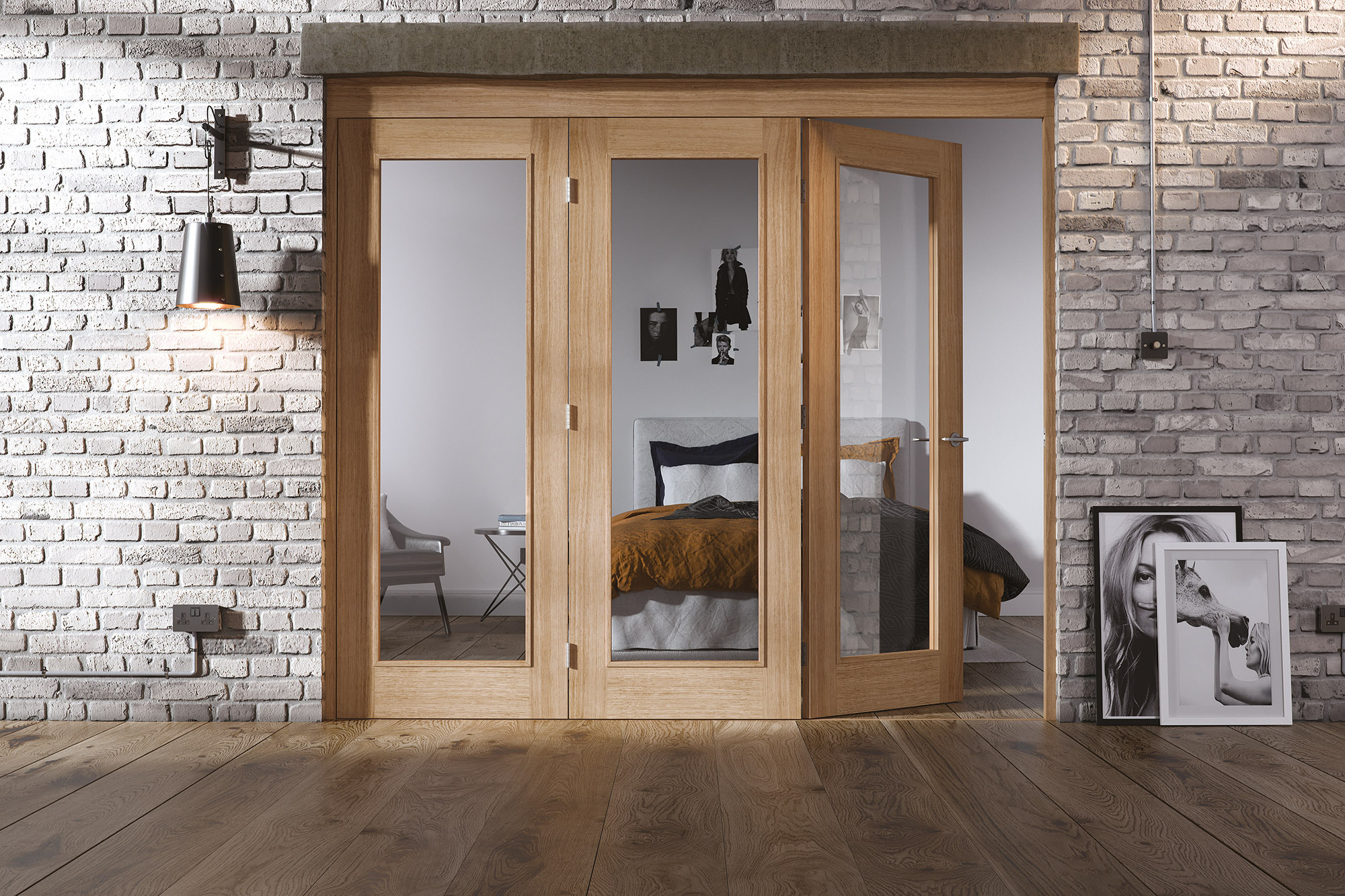 Internal Roomfold with Oak Doors